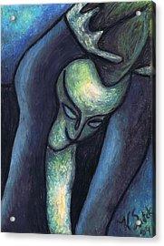 Crying Woman Acrylic Print by Kamil Swiatek