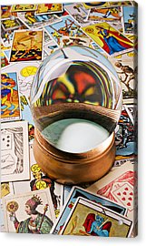 Crystal Ball And Tarot Cards Acrylic Print