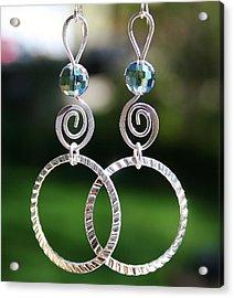 Crystal Ball Earrings Acrylic Print