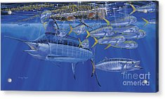 Crystal Blue Off00100 Acrylic Print by Carey Chen