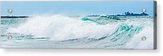 Crystal Blue Waves Acrylic Print by Parker Cunningham