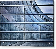 Crystal Bridges Museum Greytones Acrylic Print by Gia Marie Houck