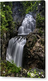 Crystal Cascade In Pinkham Notch Acrylic Print