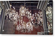 Crystal Chandeliers Acrylic Print by M West