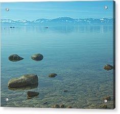 Crystal Clear Lake Tahoe Acrylic Print by Kim Hojnacki