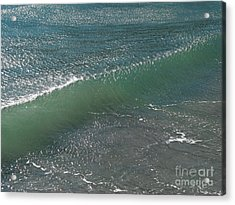 Crystal Clear Wave Movement Acrylic Print by Kiril Stanchev