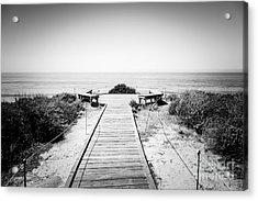 Crystal Cove Overlook Black And White Picture Acrylic Print by Paul Velgos