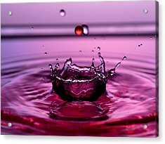 Crystal Crown Water Droplets Collision Liquid Art 4 Acrylic Print