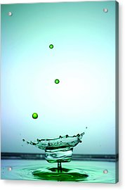 Crystal Cup Water Droplets Collision Liquid Art 4 Acrylic Print