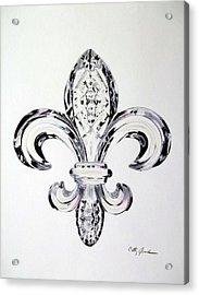 Crystal Fleur De Lis Acrylic Print