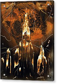 Acrylic Print featuring the painting Crystal Complex by Jason Girard