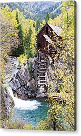 Crystal Mill Is Perched Precariously Acrylic Print