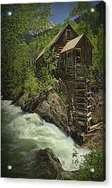 Acrylic Print featuring the photograph Crystal Mill by Priscilla Burgers