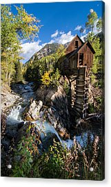 Crystal Mills Vertical Acrylic Print by Michael J Bauer