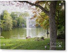 Crystal Palace In Retire's Park Oleo Acrylic Print