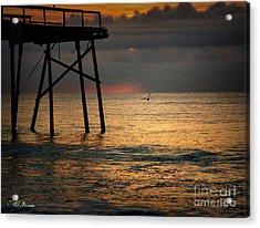 Crystal Pier Sunrise Acrylic Print