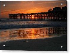 Crystal Pier Sunset Acrylic Print