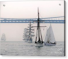 Crystal Ships On The Water Nyc Acrylic Print by Ed Weidman