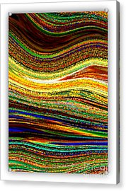 Crystal Waves Abstract 1 Acrylic Print by Carol Groenen