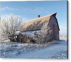 Crystaline Barn Acrylic Print by Bonfire Photography