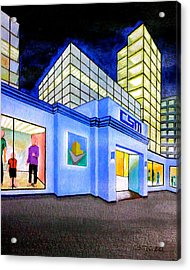 Acrylic Print featuring the painting Csm Mall by Cyril Maza