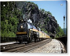 Chessie Steam Special At Harpers Ferry Acrylic Print by ELDavis Photography
