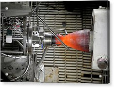 Cst-100 Spacecraft Testing Acrylic Print by Nasa/pratt And Whitney Rocketdyne