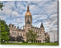 Ct State Capitol Building Acrylic Print by Guy Whiteley