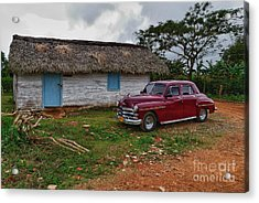 Acrylic Print featuring the photograph Cuba Cars 3 by Juergen Klust