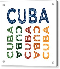 Cuba Cute Colorful Acrylic Print