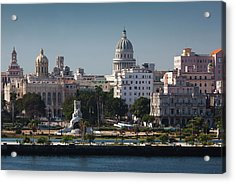 Cuba, Havana, Elevated City View Acrylic Print