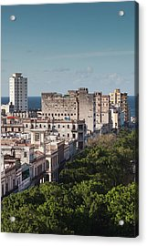 Cuba, Havana, Havana Vieja, Buildings Acrylic Print