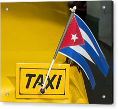 Cuba Taxi Acrylic Print by Norman Pogson