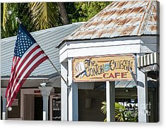 Cuban Cafe And American Flag Key West Acrylic Print