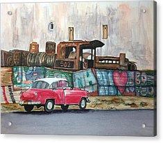 Cuban Cityscape Acrylic Print by Susan Roberts