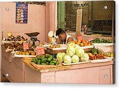 Cuban Market Stall Acrylic Print