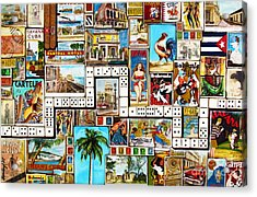 Acrylic Print featuring the painting Cubana by Joseph Sonday