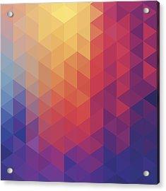 Cube Diamond Abstract Background Acrylic Print by Mustafahacalaki