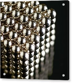 Cube Of Neodymium Magnets Acrylic Print by Science Photo Library