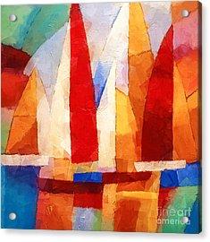 Cubic Maritime Acrylic Print by Lutz Baar