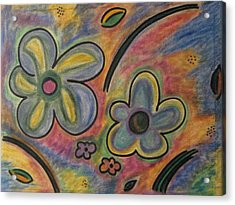 Cubism Flowers 2.3 Acrylic Print by Lois Picasso