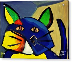 Cubist Inspired Cat  Acrylic Print by Mindy Bench