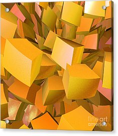 Cubist Melon Burst By Jammer Acrylic Print by First Star Art