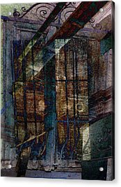 Cubist Shutters Doors And Windows Acrylic Print by Sarah Vernon