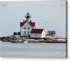Cuckholds Lighthouse Acrylic Print by Catherine Gagne