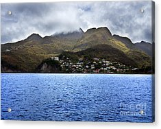 Cuddled  Fishing Village Acrylic Print