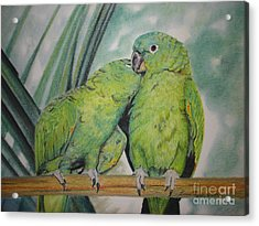 Acrylic Print featuring the painting Cuddles by Laurianna Taylor