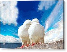 Cuddling Acrylic Print by Bruce Iorio