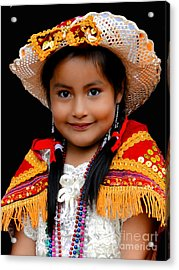 Cuenca Kids 447 Acrylic Print by Al Bourassa