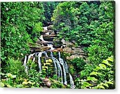 Cullasaja Falls Acrylic Print by Kenny Francis